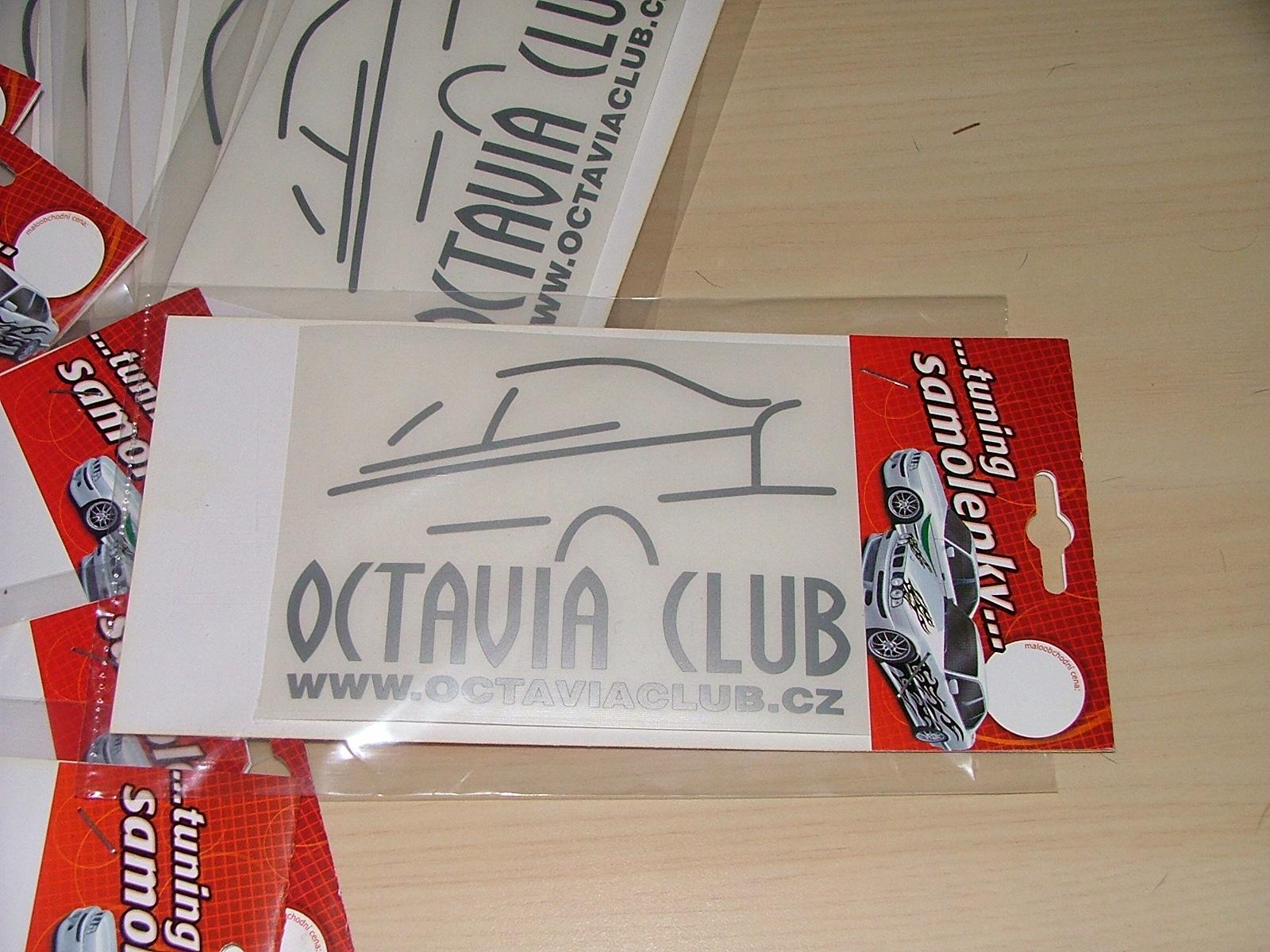 samolepky octavia club