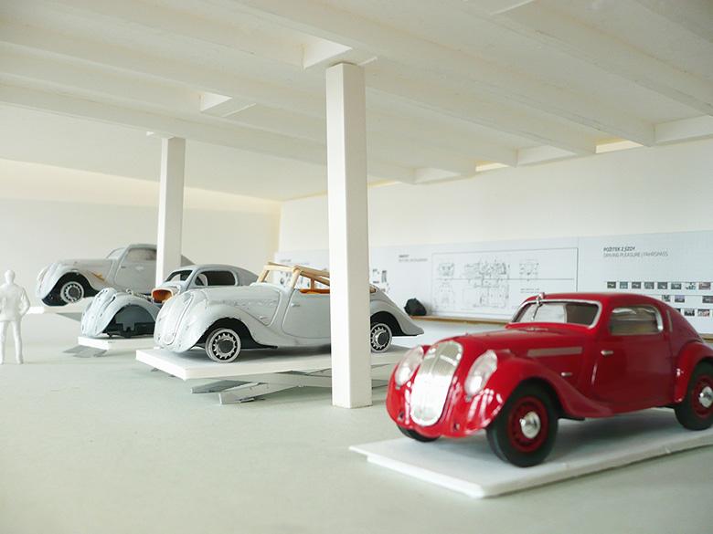 skoda museum interier
