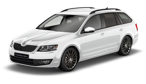skoda octavia combi black edition white