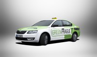 octavia g-tec green prague taxi