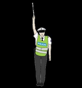 rizeni krozovatky policistou