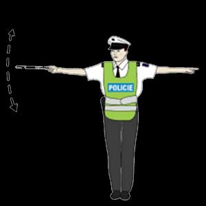 rizeni krizovatky policistou