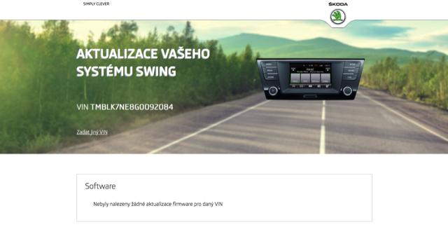 Webové stránky Škoda