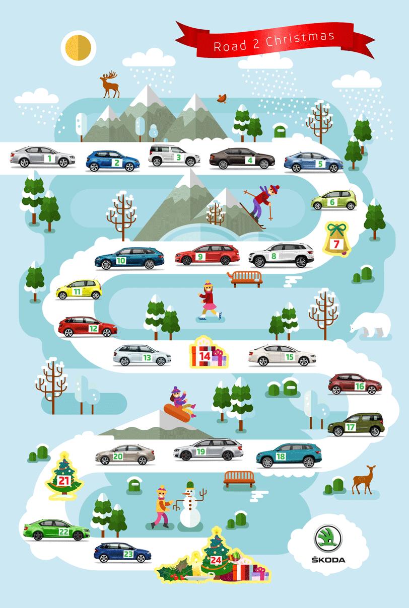 Kalendář Škoda Auto zimní