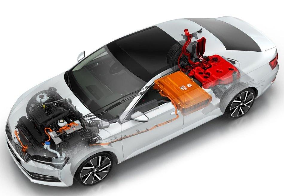 Škoda Superb iV hybrid elektromobil