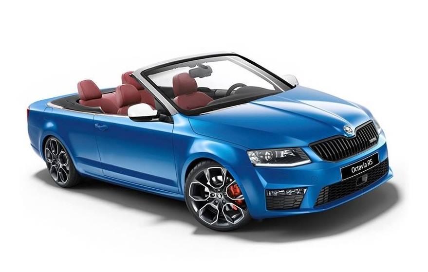 Modrá Octavia III RS Cabriolet