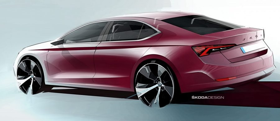 Škoda Octavia 4 pohled ze zadu