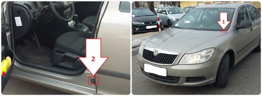 Kde je číslo karoserie VIN kód Škoda Octavia 2 po faceliftu