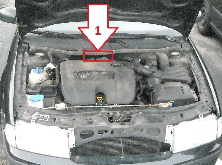 Kde je číslo karoserie (VIN kód) na Škoda Octavia 1