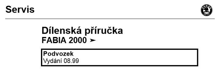 Dílenská příručka na Škoda Fabia
