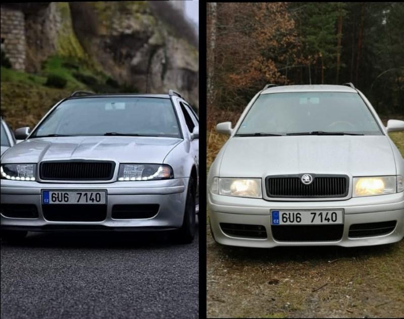 Škoda Octavia 1 před a po úpravě