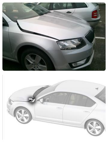 Aktivní vystřelovací kapota Škoda Octavia 3