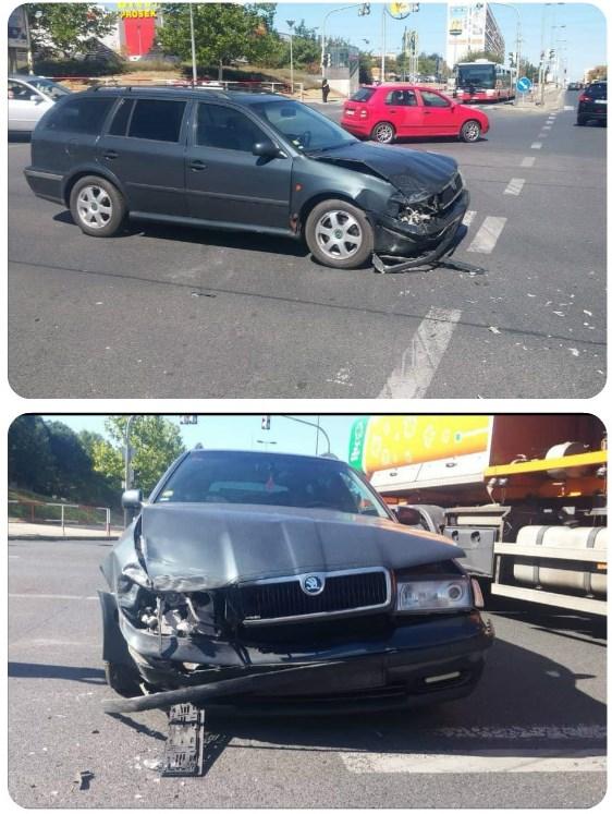 Bouračka Octavia 1 zničené auto