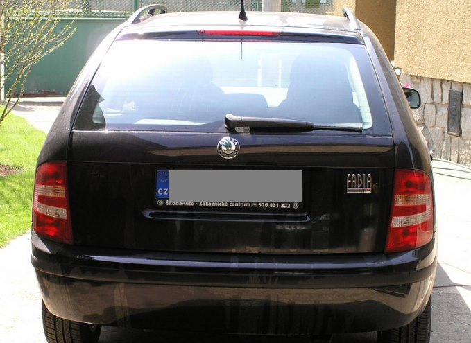 Výměna zadního stěrače Škoda Fabia I 1