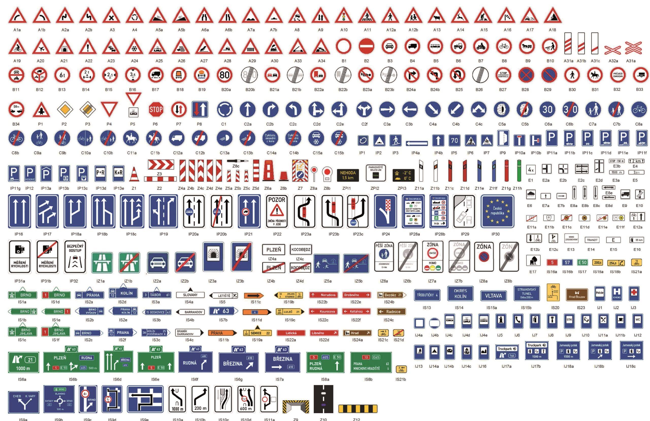 Dopravní značky na obrázku