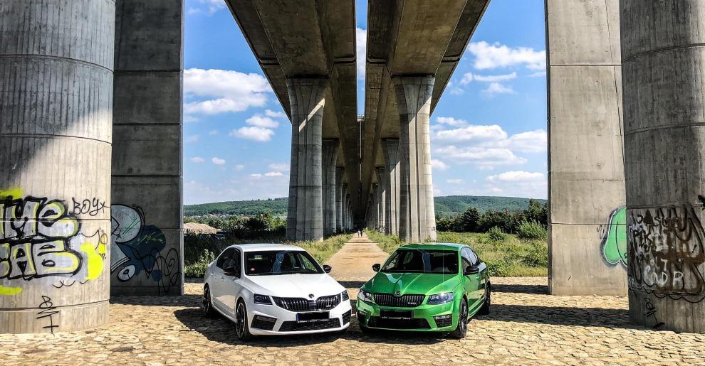 Focení auta pod radotínským mostem Zbraslav