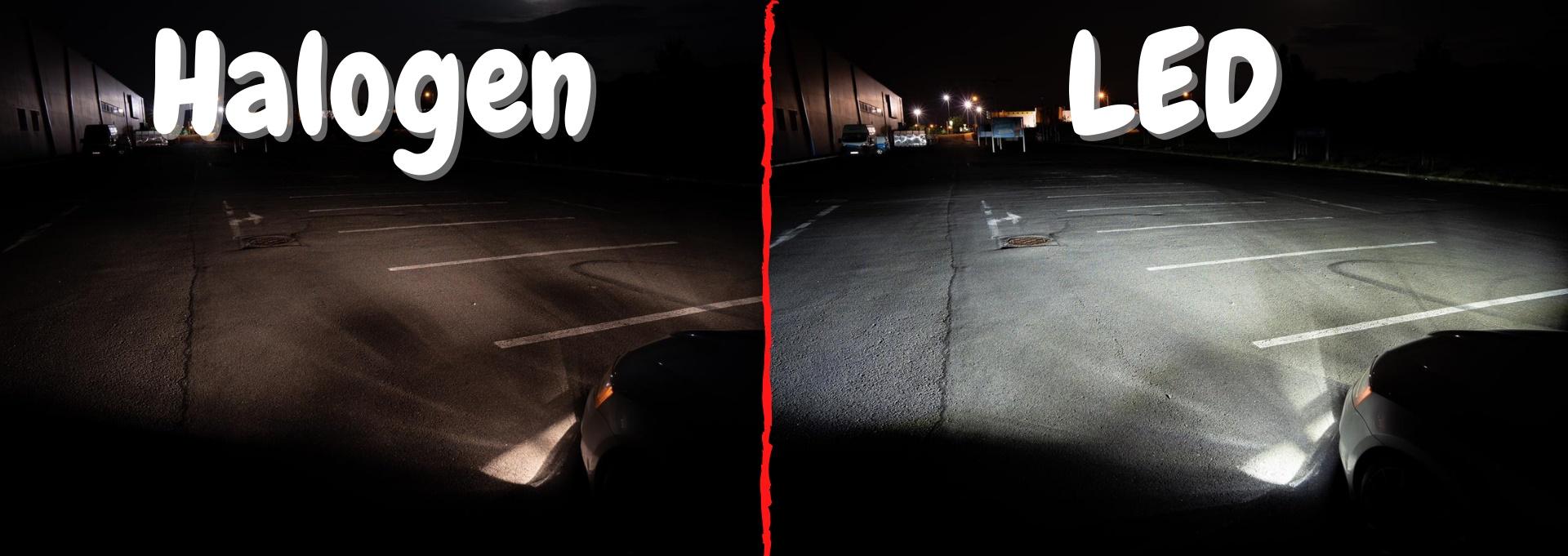 Halogen vs LED srovnání