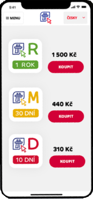 Elektronická dálniční známka nákup přes aplikaci