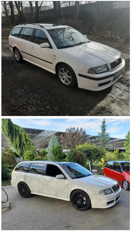 Škoda Octavia I z roku 2001 před a po renovaci